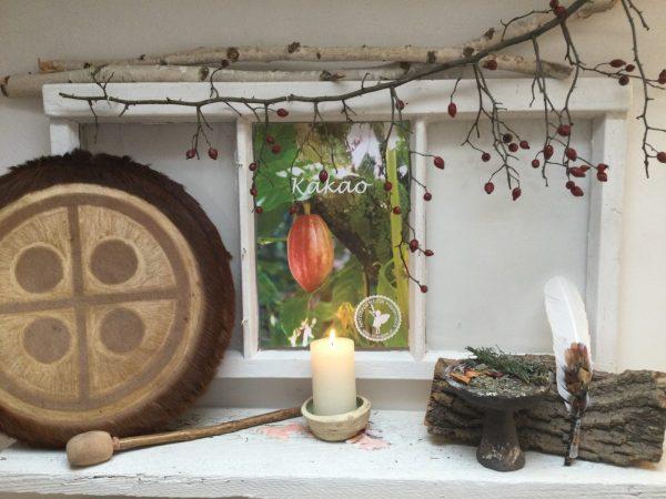 Schamanismus Heilpflanzenfenster, Kakaozeremonie